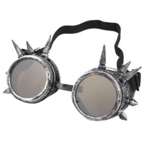 Steampunk goggles 220, kleur antiek zilver