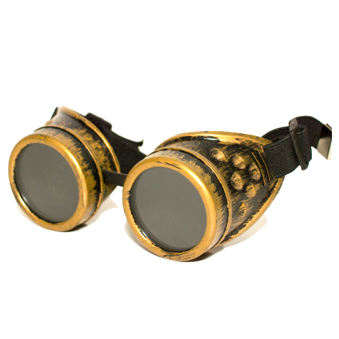 Steampunk goggles 10, in antique gold