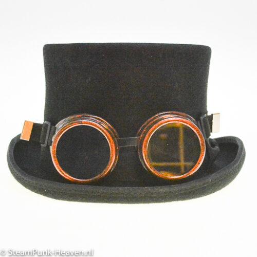 Steampunk goggles 11, kleur koper