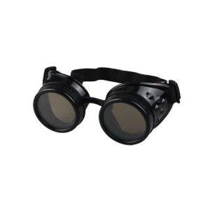 Steampunk goggles 27, kleur zwart.