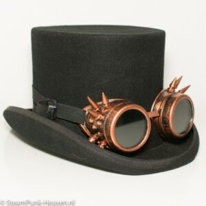 steampunk goggles 8, kleur koper