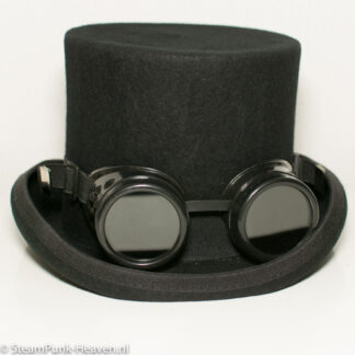 Steampunk goggles 27, kleur zwart