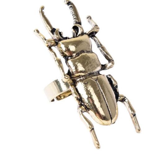 Steampunk ring 70 met kever