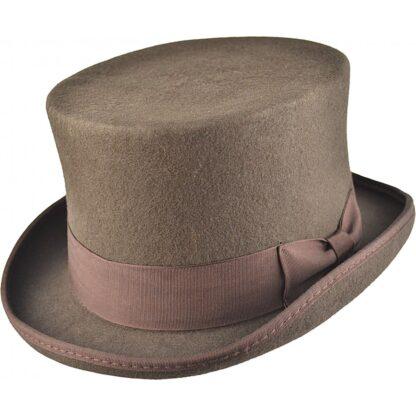 Steampunk hoge hoed Edgar, bruin