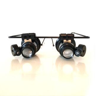 Steampunk juweliers vergrootglas bril