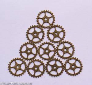 steampunk tandwielen 1 set van 10