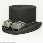 Steampunk goggles 80, antiek zilver