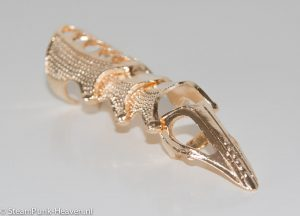 Steampunk vingerharnas gouden kleur