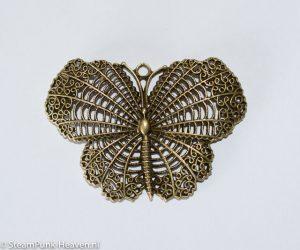 Steampunk vlinder, kleur brons