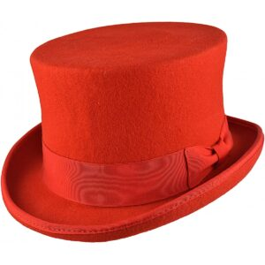 Steampunk hoge hoed Alice, rood
