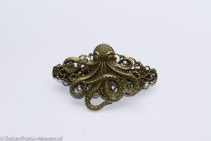 Steampunk haarklem 11, in bronzen kleur