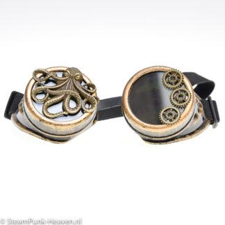 Steampunk goggles 195, kleur goud