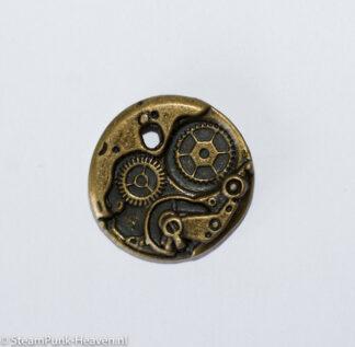 Steampunk uurwerk 19, klein, kleur brons