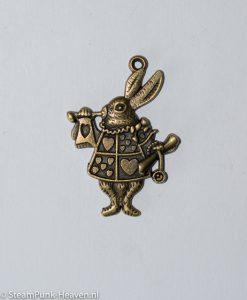Steampunk kettinghanger white rabbit