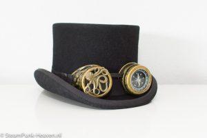 Steampunk goggles 128, kleur goud