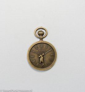 Steampunk klok 8, bronskleurig zakhorloge