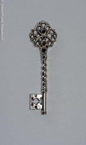 Steampunk sleutel 21, zilverkleurig