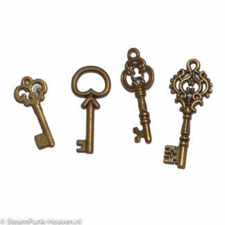 Steampunk mini sleutels