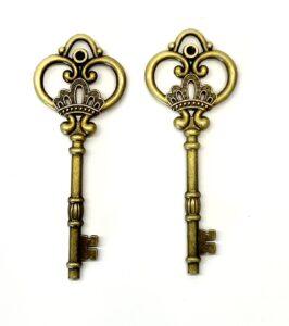 Steampunk sleutel 27, brons