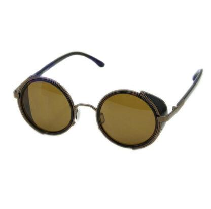Steampunk bril 1, bruine glazen, bruin randje, bruine montuur