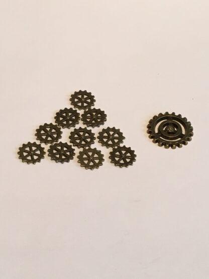 Steampunk mini tandwielen 44, set van 10 stuks