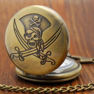 Steampunk zakhorloge 16 met piraat