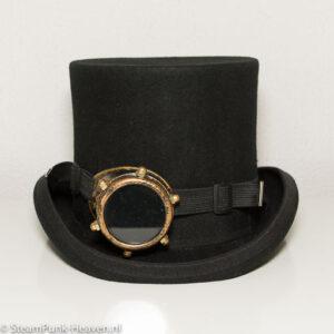 Steampunk goggles 1, mono-goggles, kleur goud