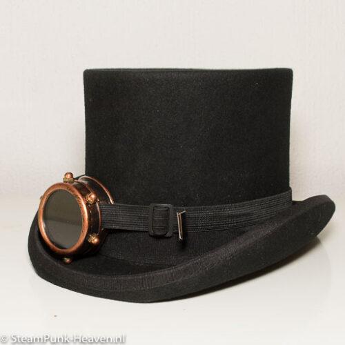 Steampunk goggles 2, mono-goggles, kleur koper