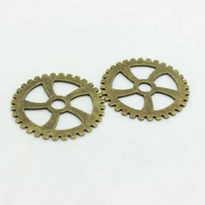 Steampunk tandwielen groot, brons