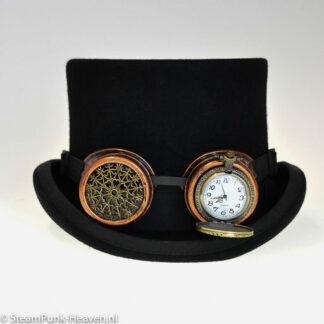 Steampunk goggles 317, kleur koper