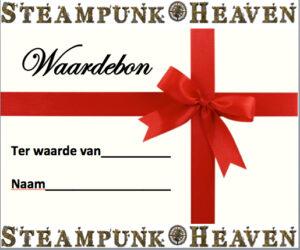 Steampunk Heaven Waardebon - post versie ter waarde van 25 Euro