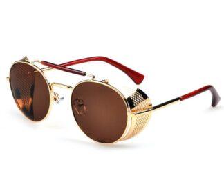 Steampunk bril 24 heeft bruine glazen