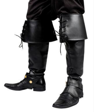 Steampunk beenkappen zwart