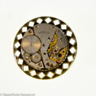 Steampunk broche 37, kleur brons