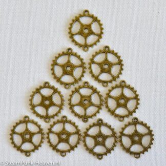 Steampunk tandwielen 52, set van 10 stuks