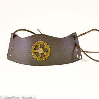 Steampunk lederen armband 120