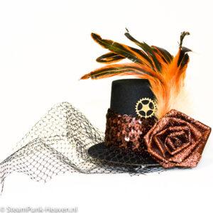 Steampunk mini-hoge-hoed Elly