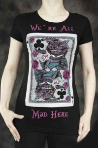 Steampunk We are all mad here t-shirt