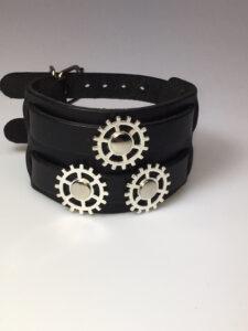 Steampunk leren armband 44