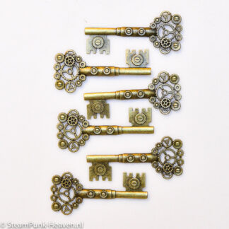 Steampunk sleutels 20, buy 5 get 1 free