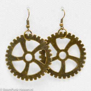 Steampunk oorbellen 175