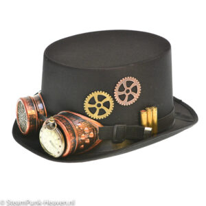 Steampunk hoed The Unforgiven met goggles