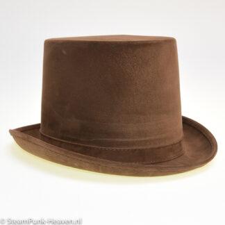 Steampunk hoed Frank, bruine hoge hoed