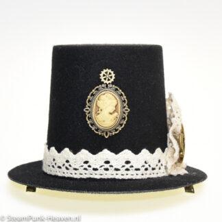 Steampunk mini-hoge-hoed SheilaSteampunk mini-hoge-hoed Sheila