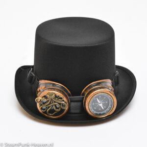 Steampunk hoed 67 met octopus en kompas