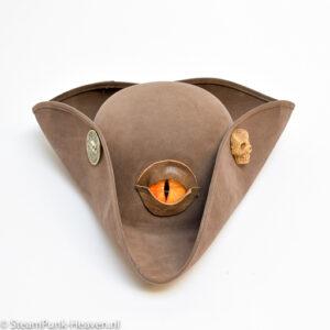 Steampunk hoed Dragon pirate plu