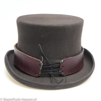 Lederen hoedenband time seeker