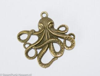 Steampunk octopus, kleur brons