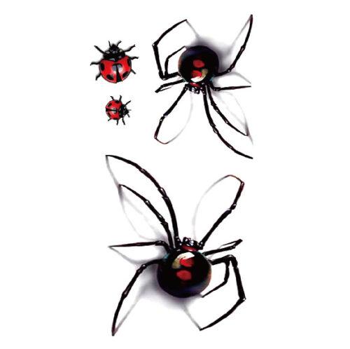Steampunk tattoo sticker 3D spinnen