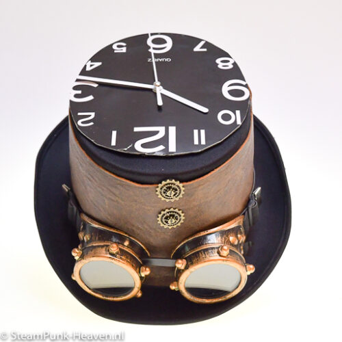 Steampunk hoed A shortcut in Time
